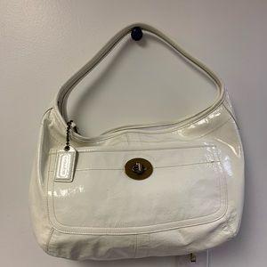 Coach White Patent Leather Hobo Purse c0793-11009